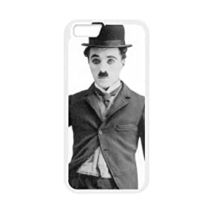 Popular And Durable Designed TPU Case with Chaplin For iPhone 6 Plus 5.5 Inch Cell Phone Case White