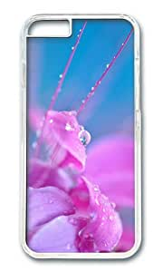 Pink flower petals close up dew water drops PC Transparent Hard Case for Apple iPhone 6(4.7 inch)