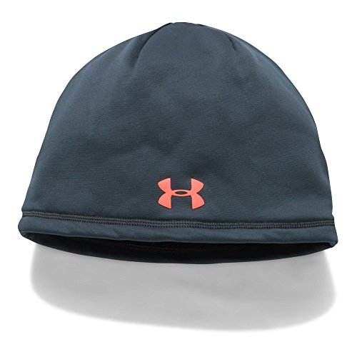 Under Armour Men's ColdGear Reactor Elements Beanie, Stealth Gray/Magma Orange, One Size Under Hat Clothing
