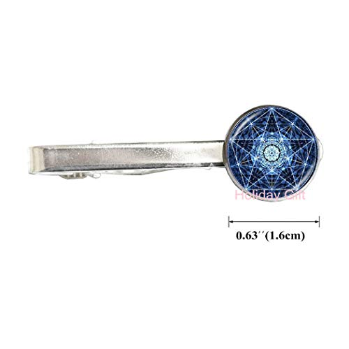 Holiday gift Fashion Tie Clip,Pentagram Tie Clip, Wiccan Jewellery, Pentacle Tie Clip, Pagan Jewelry, Wicca Tie Clip, Witch Jewellery, Gothic Halloween Jewellery,H055 (S1) -