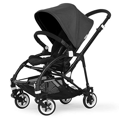 Zsail Baby Cart High Landscape Pram Ultra Light Portable Baby Stroller Portable Four-Wheeled Trolley (Color : Black)