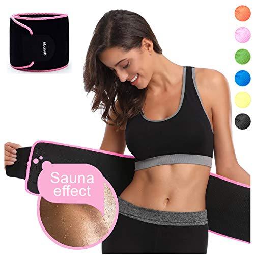 Abahub Exercise Waist Trimmer Ab Belt for Women & Men, Slimming Belt, Premium Waist Trainer