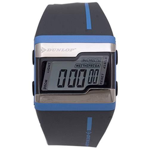 Dunlop Digital Watch Mens DUN154M03 Silver/Blue Quarzt