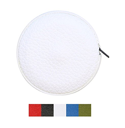 White Genuine Colorado Leather Soft Sewing Body Tape Measure – Tailor Seamstress Fabric Cloth Craft Flexible Retractable Measuring Tape – Gift Box - Wrapped in USA by Real Leather Creations BTP FBA681