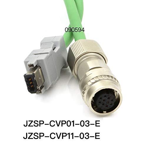 ShineBear Encoder Cable for Yaskawa Servo Motor Standard Type JZSP-CVP01-03-E Angle Type JZSP-CVP11-03-E - (Cable Length: 1m, Color: Green)