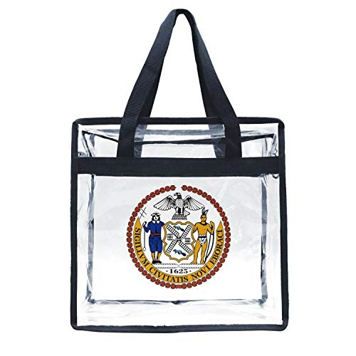 Eoyles gy Clear Bag Stadium Approved 12 X 6 X 12 Crossbody Transparent Purse Shoulder Handbag for Men Women Seal of New York City Clip Art Zippered Security Bag