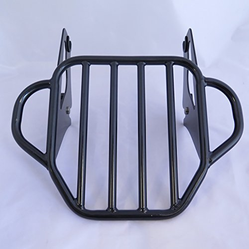 XKMT Motorcycle Black King Detachables Two-Up Luggage Rack For 2009-2016 Touring Road King / Street Glide / Road Glide