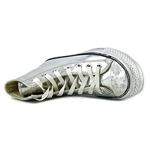 All Star Hi Leather Unisex Silver/White/Black