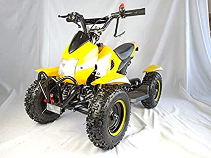 Mini quad de gasolina con motor de 49cc de 2 tiempos -ATV07 COBRA. / Mini quad para niños de 4 a 10 años/miniquad infantil (AMARILLO): Amazon.es: Coche y moto