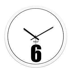 Wall Clocks Metal Circular Home Living Room Quiet Clock Decorative Bells (Color : White, Size : 14in)