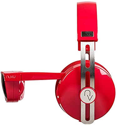 NUVU In-Sight HD Stereo Over-Ear Headphones with Built-In HD Video Glasses - Red