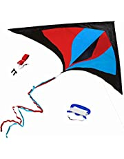 Best Delta Kite, Easy Fly for Kids and Beginners, Single Line with Tail Ribbons, Stunning Multi-Colors, Materials, Large, Meticulous Design and Testing + Guarantee + Bonuses!