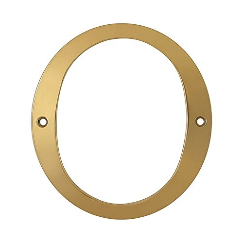 Deltana RN6-0 Solid Brass 6-Inch House Number 0 Board