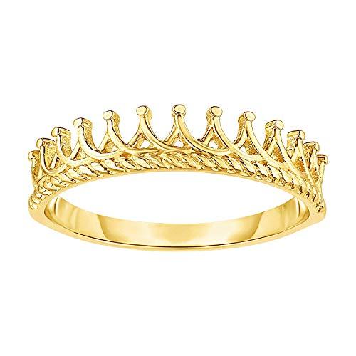 MCS Jewelry 14K Yellow Tiara Crown Design Ring, (Size 7)