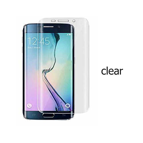 Screen Protector PET Electroplating Protective Film For Samsung Galaxy S7 Edge Full Cover Tempered Glass Anti-fingerprints 9H Hardness 4D Arc Edge 0.26mm Six Color (Clear)