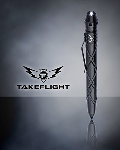 Tactical Pen Self Defense Tool - Multitool with LED Flashlight/Pen Light for Nurses and Doctors   EDC Tac Pens Survival Gear, Police, Military   Black Ballpoint Ink, Gift-Boxed with Extra Batteries by TF TAKEFLIGHT (Image #4)