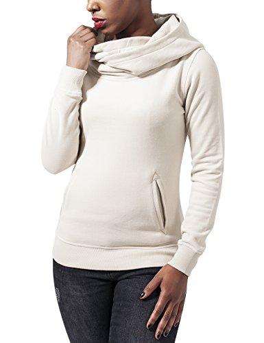 208 Elfenbein Neck Ladies Urban High Mujer Classics sand Hoody Sudadera Para nq8xw6v1x7