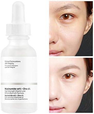 Dan&Dre Suero Facial, blanqueamiento, Control de Aceite, aclaración, Tono de Piel, Esencia, Cuidado de la Piel, emulsión de 30 ml, 10% de niacinamida + 1% de Zinc, blanqueamiento Limpiador