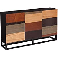 Sideboard with Multiple Wood Finish Espresso, Oak, and Black 31 H x 52.25 W x 12.5 D in.