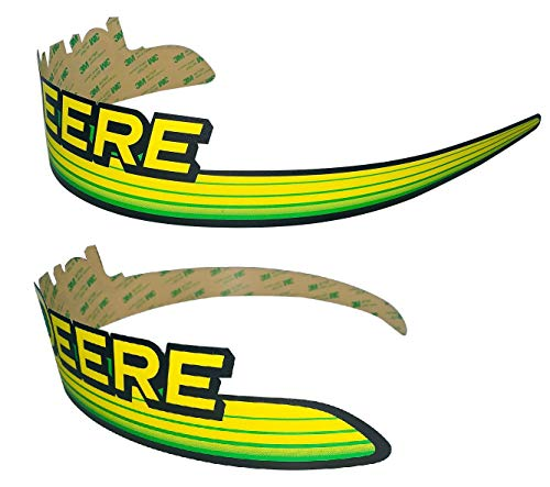 Hood Decal Set - New Kumar Bros USA LH & RH Upper Hood Decal Set Replaces M145994 M145995 fits John Deere GT245 GT225 GT235 UP S/N