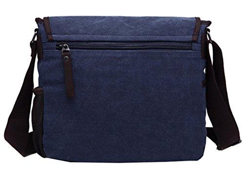 Moderne Umhängetasche, Laptop-Tasche, Computer-Tasche, aus Canvas, für Männer und Frauen blau