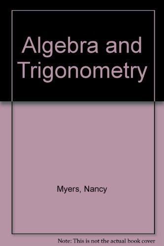 Algebra and trigonometry for college students