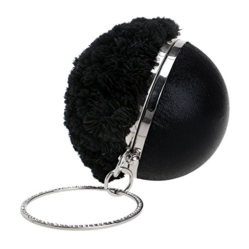 borsa fiori borse borsa sera mobili nero a fatti colore nero da mano e europea estero Vola americana commercio gw7Hq8