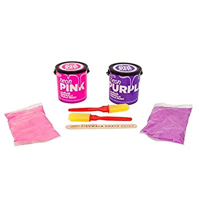 Mattel RoseArt Washable Sidewalk Chalk Paint 2ct Neon Pnk/purp: Toys & Games