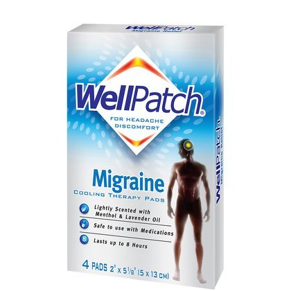 WellPatch Migraine Cooling Headache Pads-4ct (Pack of 5)