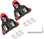 Bike Pedal Cleats,FUPPUO 1 Pair Durable Cycling Bike Cleats 6 Degree Float Indoor Cycling & Road Bike Peda