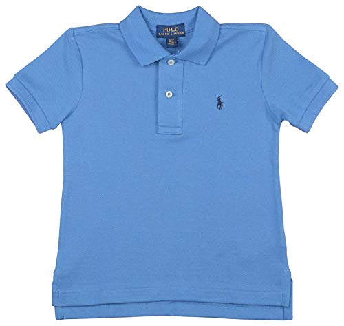 Polo Ralph Lauren Boys Toddlers Mesh Classic Polo Shirt Bright Blue (5)    (School Embroidered Toddler Polo)