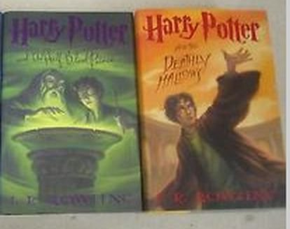Harry Potter Books,7 & 8 Half-Blood Prince & The Deathly Hallows (hard Cover, 1st Edition) (Harry Potter And And The Half Blood Prince)