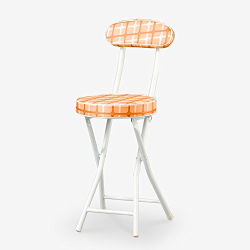 ALUS- Office meeting staff chair/outdoor sketching chair/folding back chair/dining chair soft surface orange by CXM-Chair / Stool
