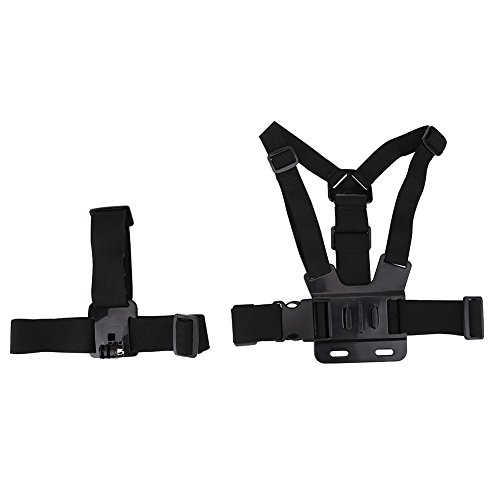 Acouto Lightweight Action Camera Adjustable Helmet Strap Chest Harness Mount Accessory for Go pro by Acouto
