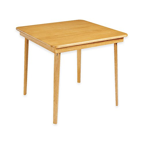 Stakmore 32-Inch Straight Edge Folding Card Table in Oak