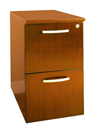 Exceptionnel Mayline Napoli 2 Drawer Vertical Wood File Pedestal In Golden Cherry