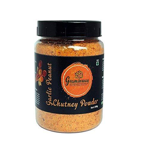 Graminway Garlic Peanut Chutney Powder, Indian Chutney Mix, Homemade chutney powder, Maharashtrian Recipe: 200gm