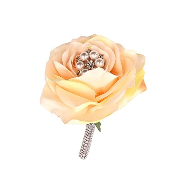 Abbie-Home-Advanced-Rhinestone-Covered-Wedding-Bridal-Flower-Crystal-Pearls-and-Jewels-Decorated-Rose-Bouquet-in-Champagne-Blush