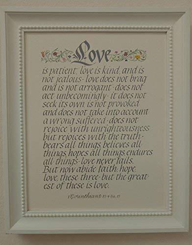 Amazoncom Love Is Patient 1 Corinthians 134 8a13 Calligraphy