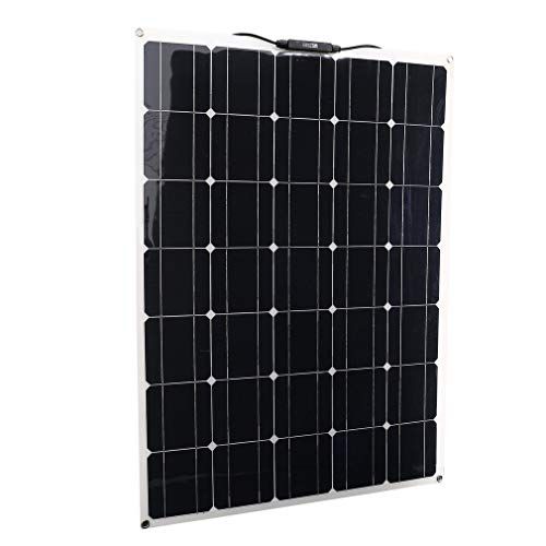 Genuine store 150 Watt 150W Solar Panel with MC4 Connectors | Flexible Monocrystalline Lightweight Poly Off Grid Battery Charger for RV, Boats, Roofs, Cabin, Tent, Car, Trailer, Ultra Thin -Waterproof