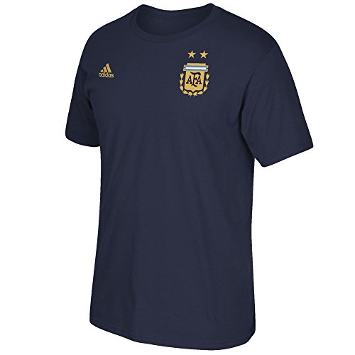 Argentina Soccer Shirt - adidas Paulo Dybala Argentina World Cup Men's Navy Name and Number T-Shirt X-Large