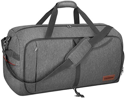 Canway 65L Travel Duffel Bag, Foldable Weekender Bag with Shoes ...