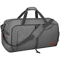 Material: 600D polyester fabric, waterproof & tear-resistant. SBS zippers and reinforced major stress points. It weighs about 80% less than your empty suitcase, but can also provide the same solid package. We guarantee 2 years protection ...