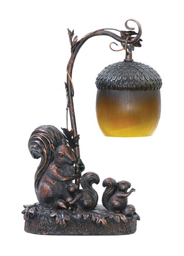 Sterling Home 91-768 Squirrel Acorn Light Table Lamp
