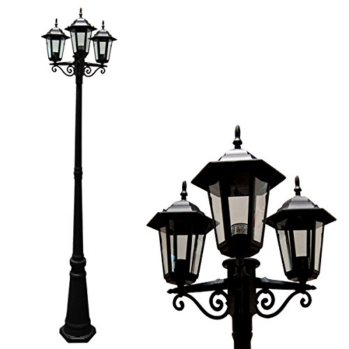 Three Light Outdoor Post Lamp in US - 7