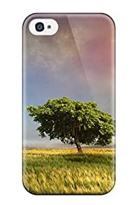 Anti-scratch And Shatterproof Fantasy Fields Phone Case For Iphone 4/4s/ High Quality Tpu Case