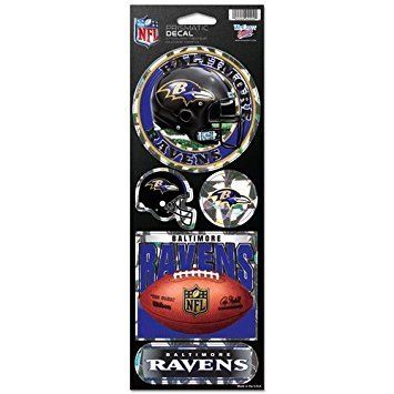 WinCraft NFL Baltimore Ravens Prismatic Stickers, Team Color, One Size (Best Mall In Baltimore)