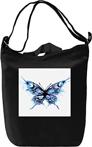 Butterfly Print Borsa Giornaliera Canvas Canvas Day Bag| 100% Premium Cotton Canvas| DTG Printing|