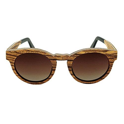 Resin Eyewear de Bois Polarisé Real Lentilles Unisexe RevêteHommest Meijunter protection Des Lunettes soleil de lunettes Fauve UV400 wB7xq6qI