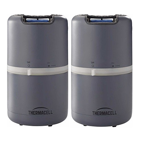 Thermacell MR-D201 Halo Mosquito Repeller - Patio Shield, Slate Grey - 2-Pack (Each Protects 15039;x15039; ()